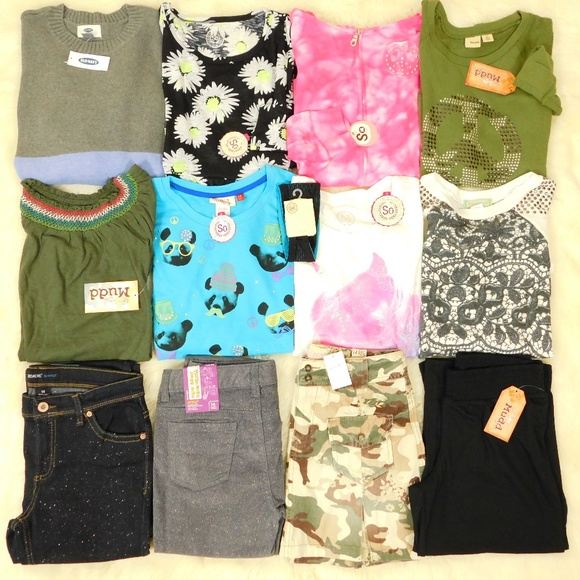 Mudd Other - Girl 14/16 Clothes Lot Tops Pants Jeans Hoodie NWT